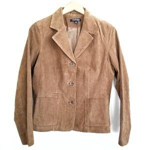 Chadwicks Camel Genuine Suede Leather Jacket 8